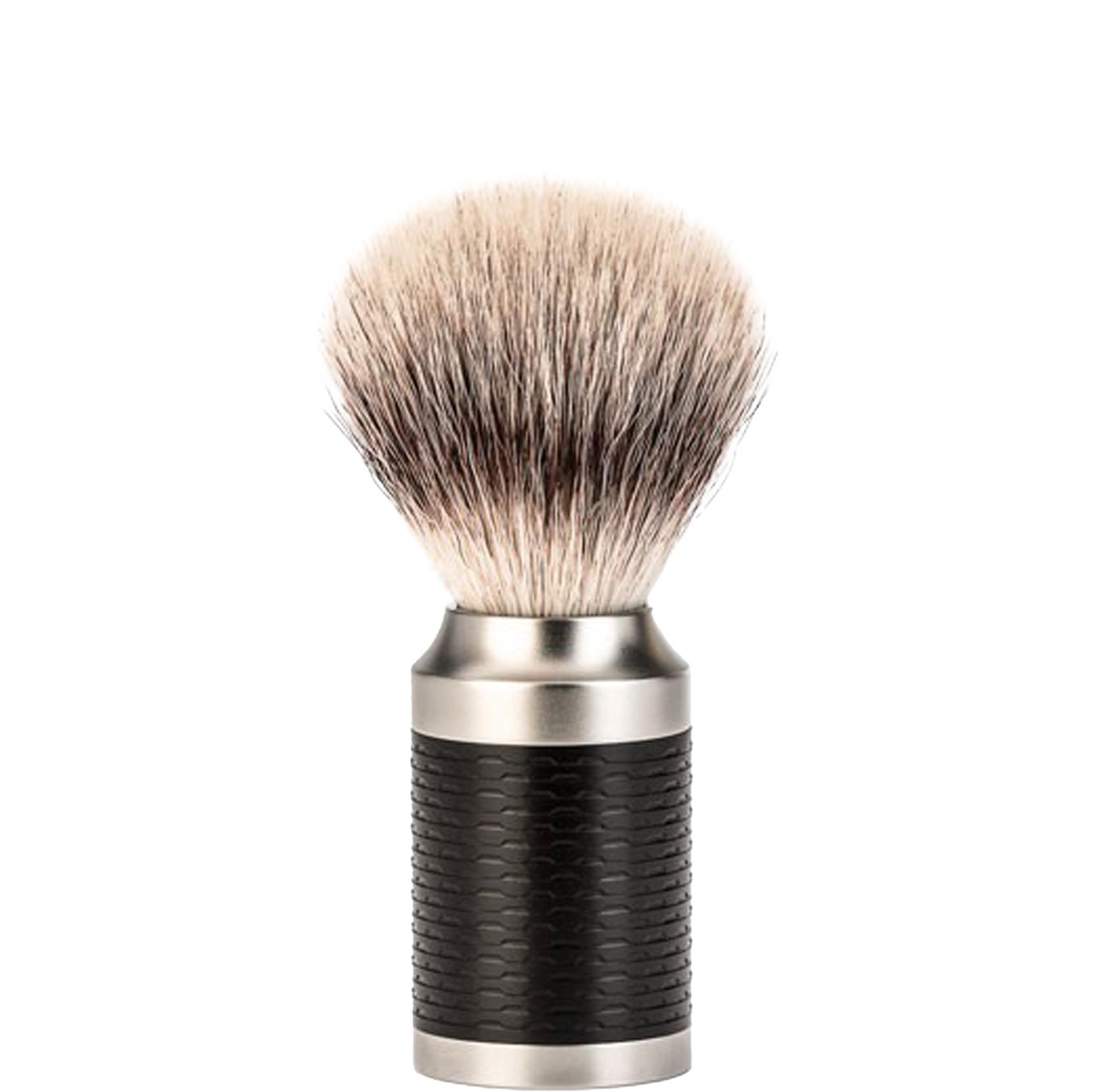 Scheerkwast Rocca Silvertip Fibre - zwart