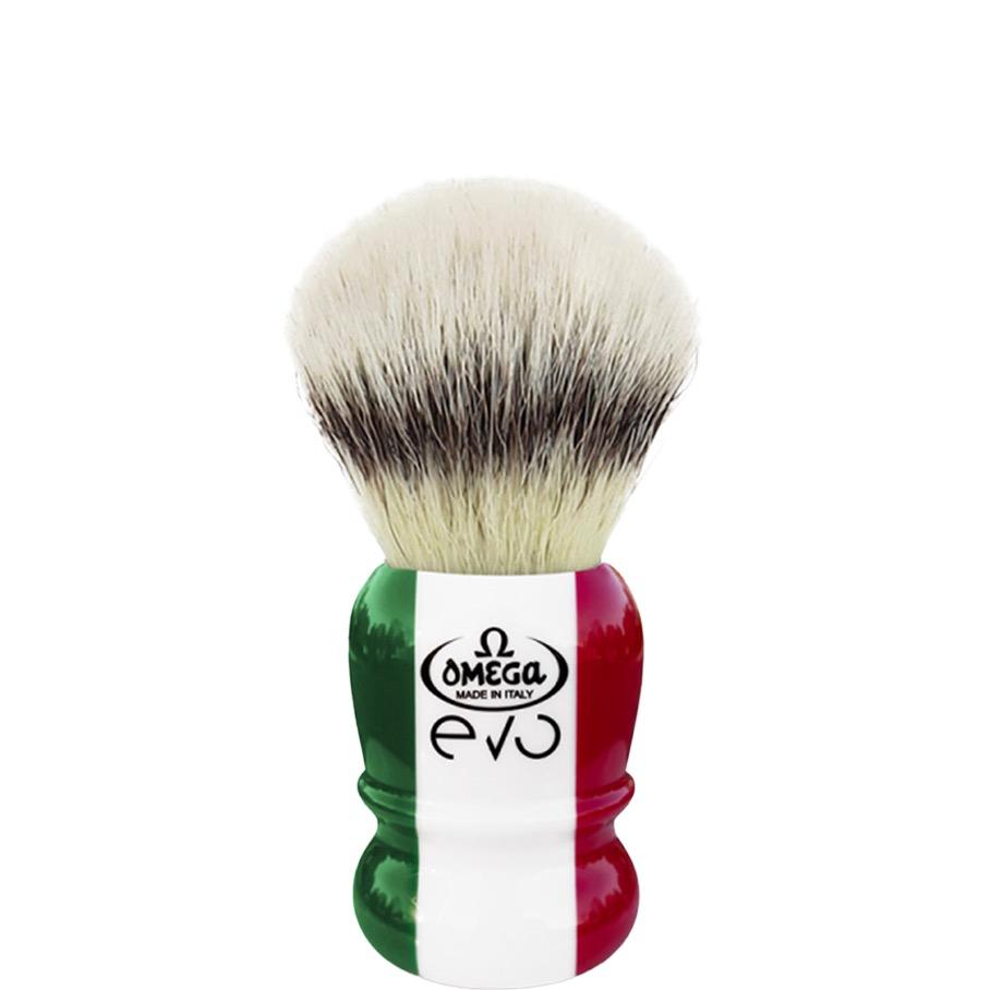 Scheerkwast EVO Silvertip fibre - Special Italian Flag
