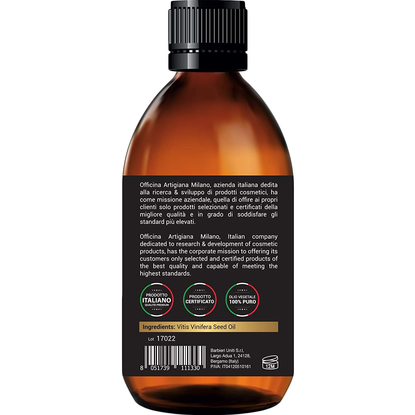 100% Pure Certified Grape Seed Oil