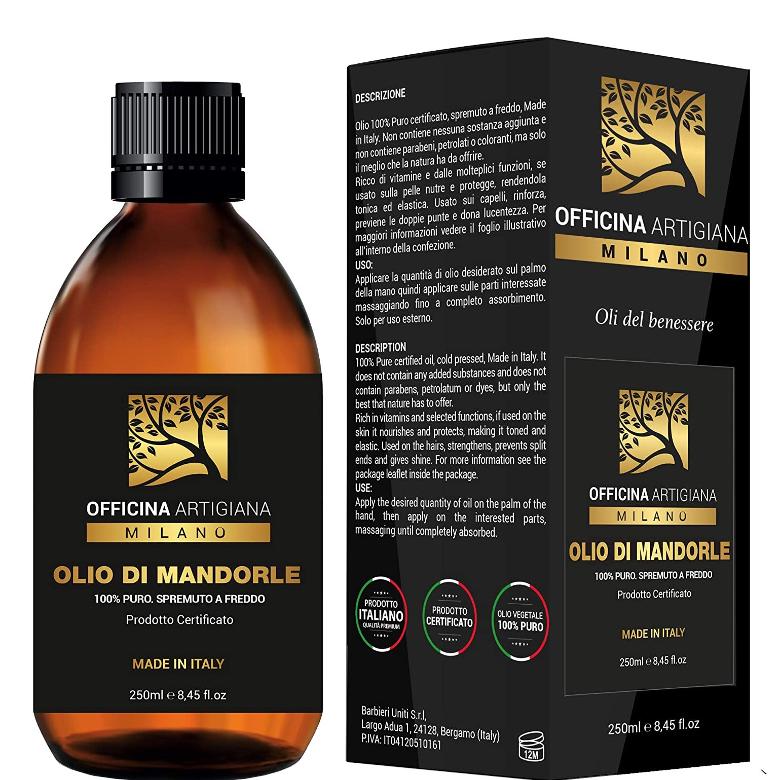 100% Pure Certified Almond Oil