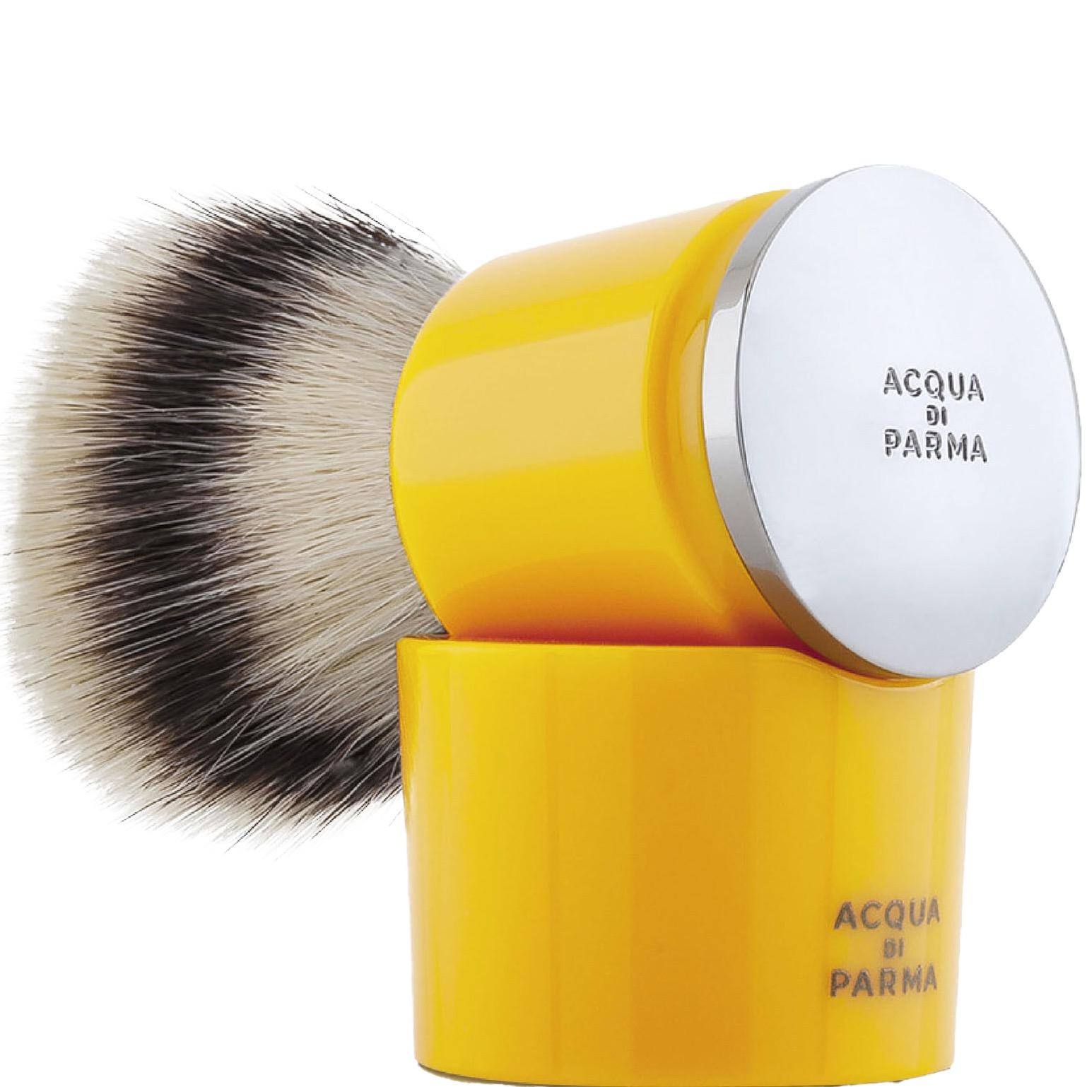 Scheerkwast & Stand Barbiere - Fibre - yellow
