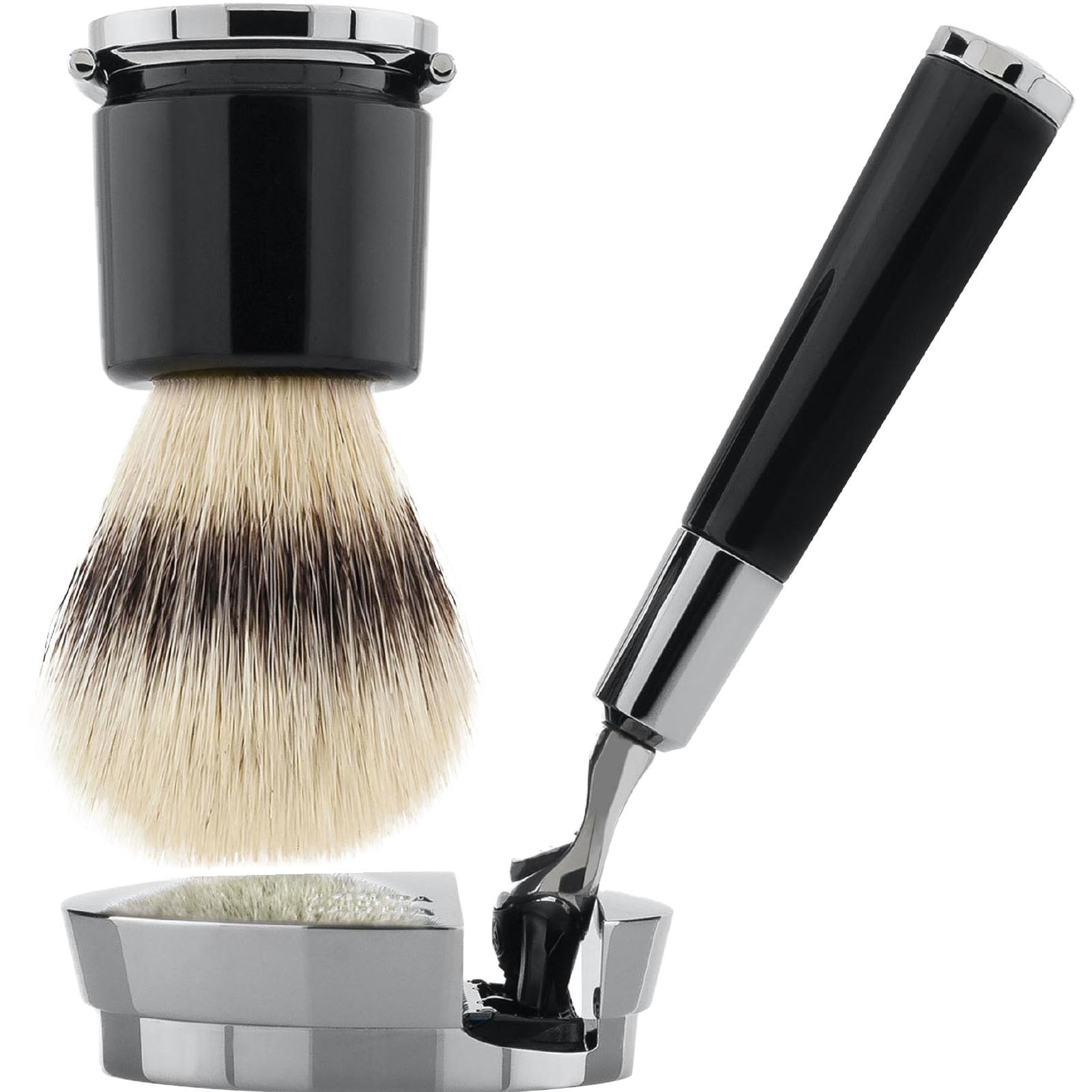 Scheerset Fusion Deluxe - Silvertip Fibre - black