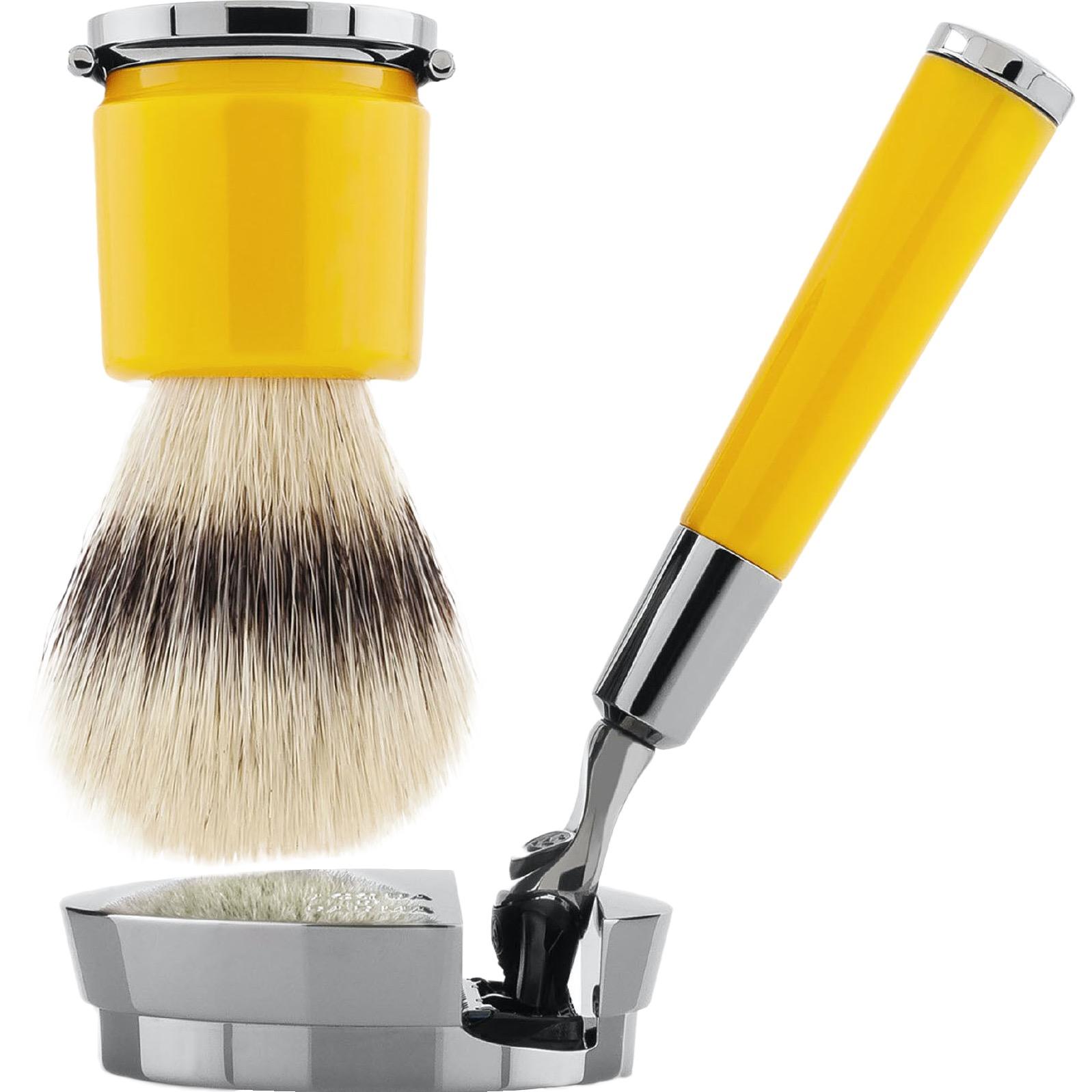 Scheerset Fusion Deluxe - Silvertip Fibre - yellow