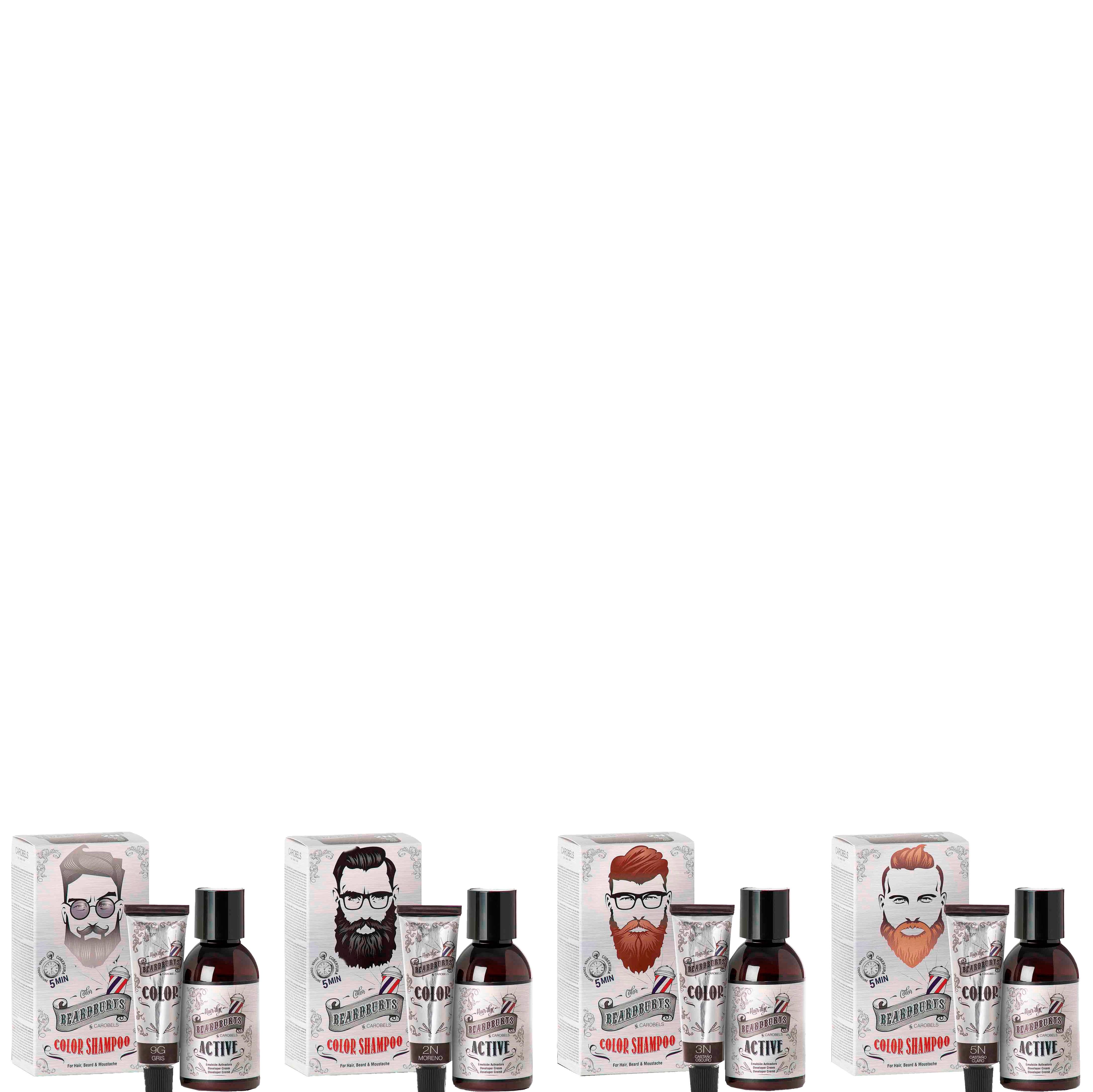 Kleurshampoo 3N - voor haar, baard en snor