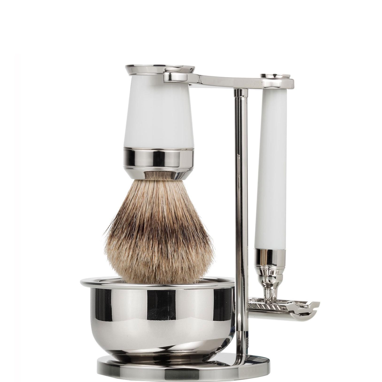 Scheerset & bowl Premium Safety Razor - Silvertip