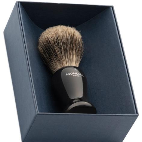 Scheerkwast Crosby XXL Eco Silvertip - zwart
