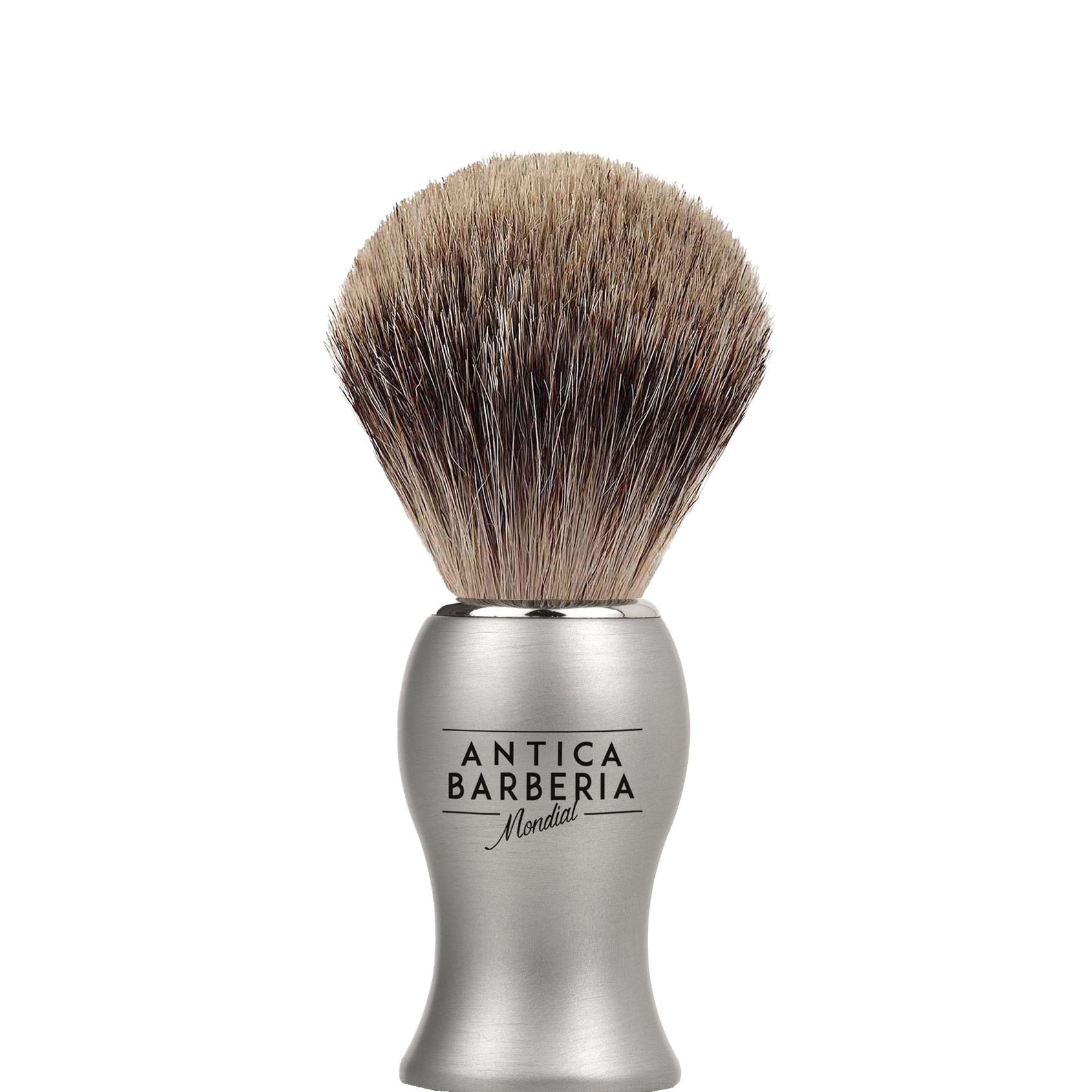 Scheerkwast Antica Barberia Fijndashaar - titanium