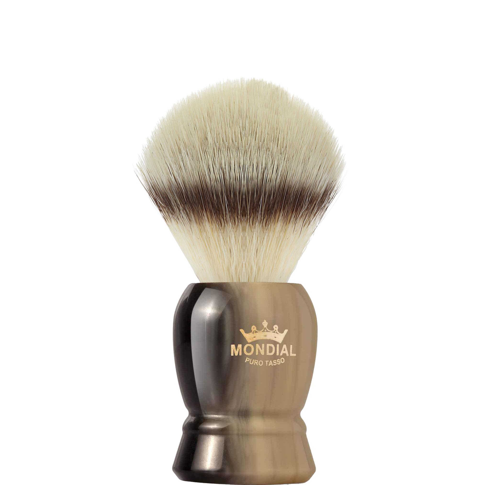 Scheerkwast Burton Silvertip Fibre - hoornbruin