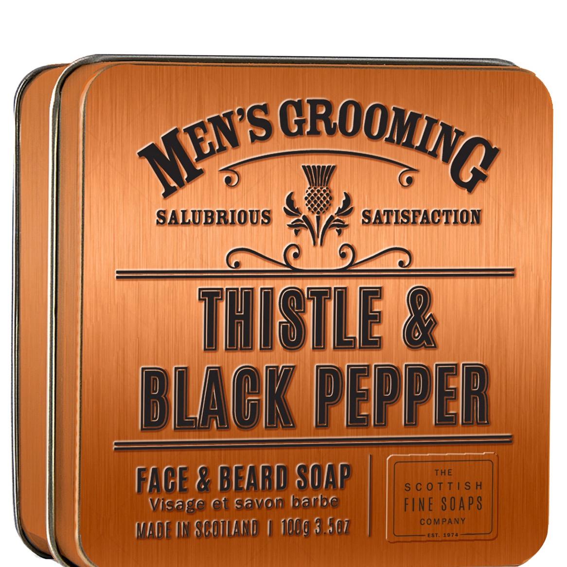 Face & Beard Soap Thistle & Black Pepper