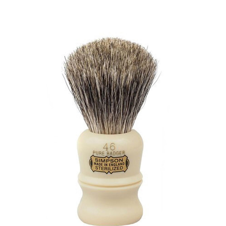 Scheerkwast Simpsons Berkeley 46P - Pure Badger - ivoor