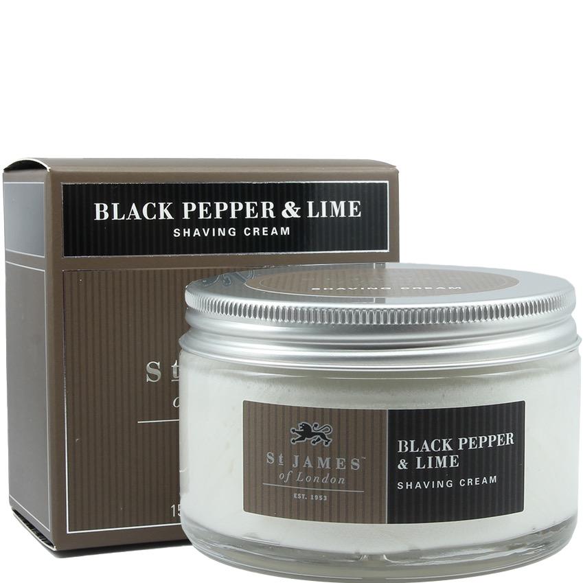 Scheercrème Black Pepper & Lime