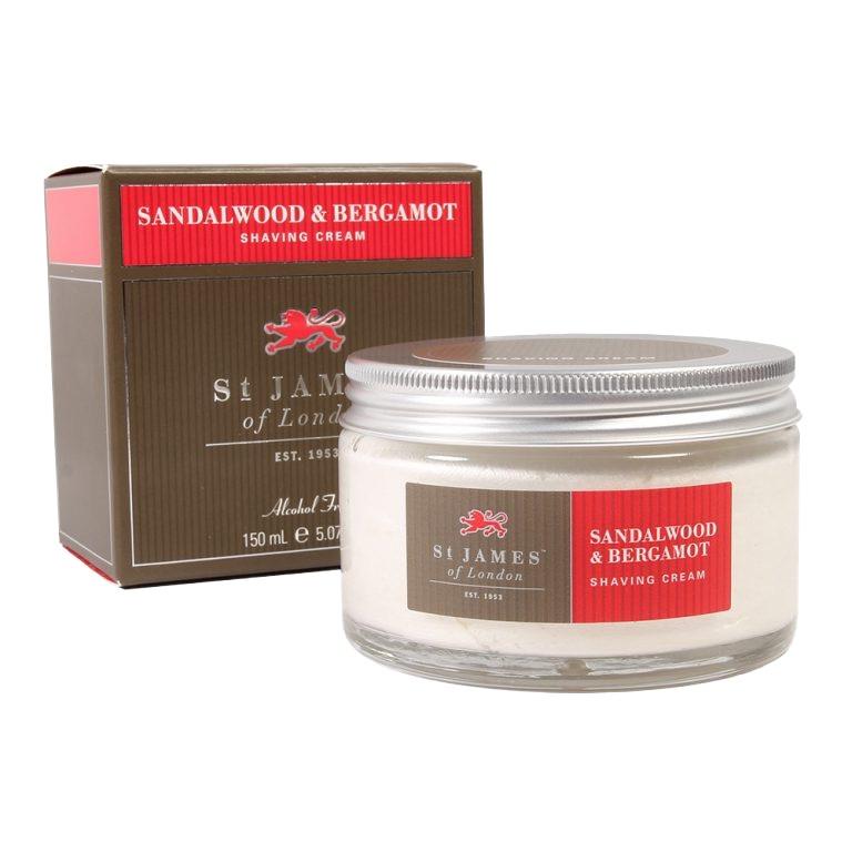 Scheercrème Sandalwood & Bergamot