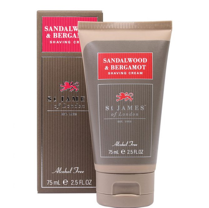 Scheercrème tube Sandalwood & Bergamot