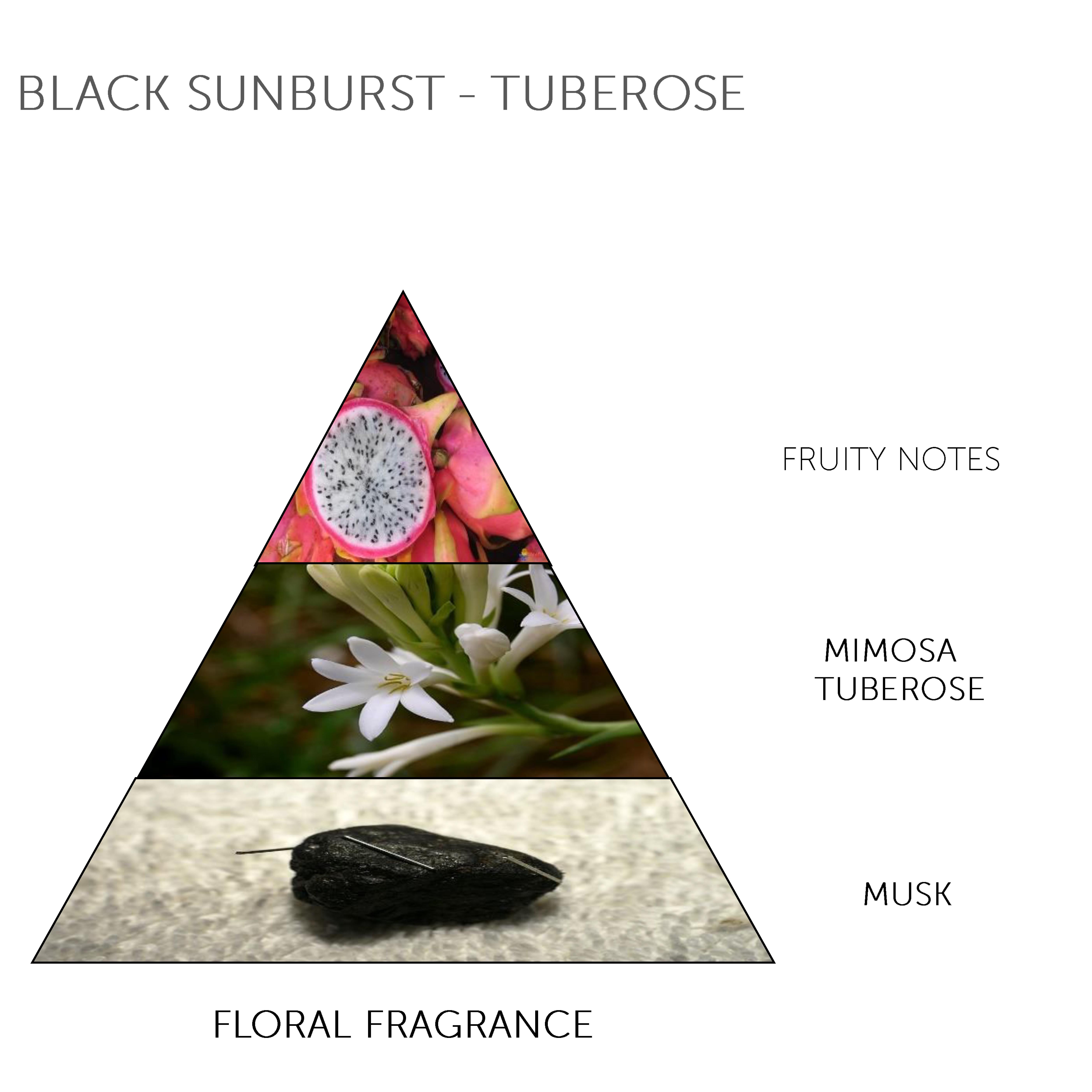 Soap Bar Black Sunburst - Tuberose
