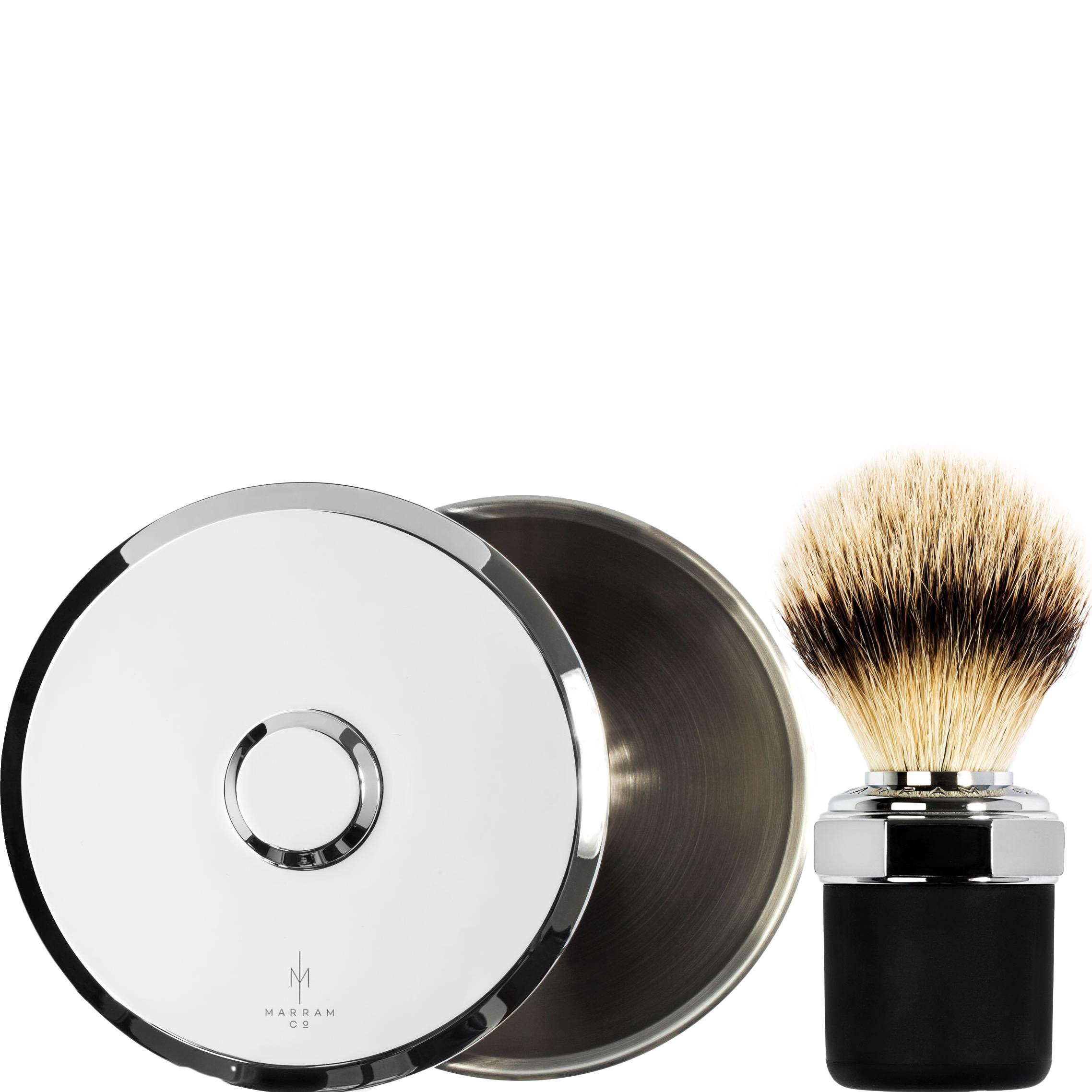 Bowl & Scheerkwast Silvertip dashaar - chroom