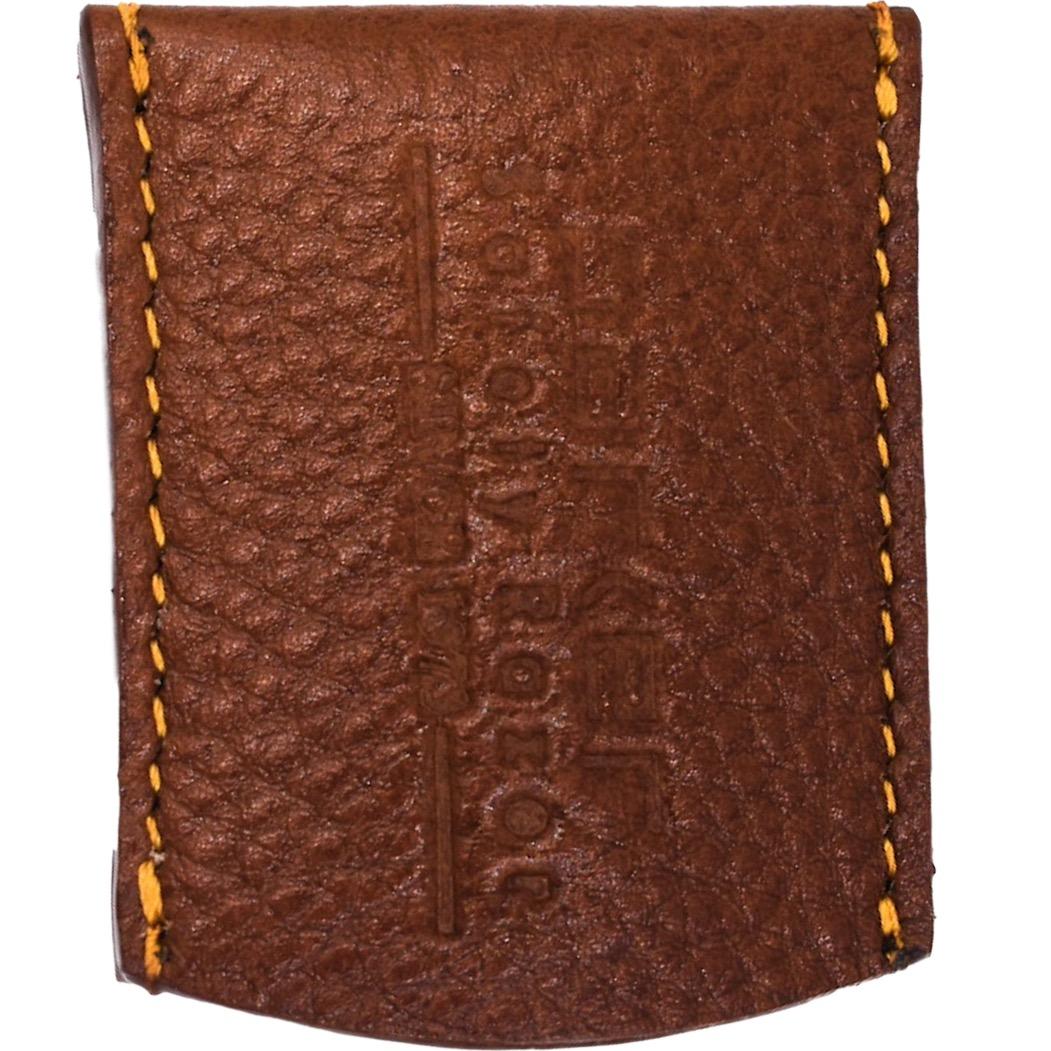 Razor Cover in bruin leder