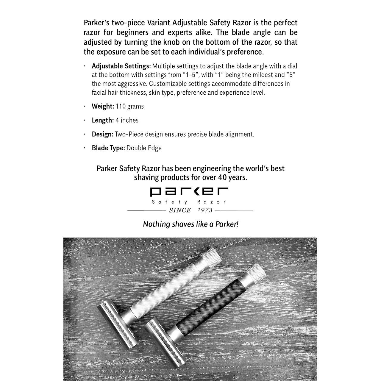 Safety Razor Variant Adjustable - PA-VAR-SC