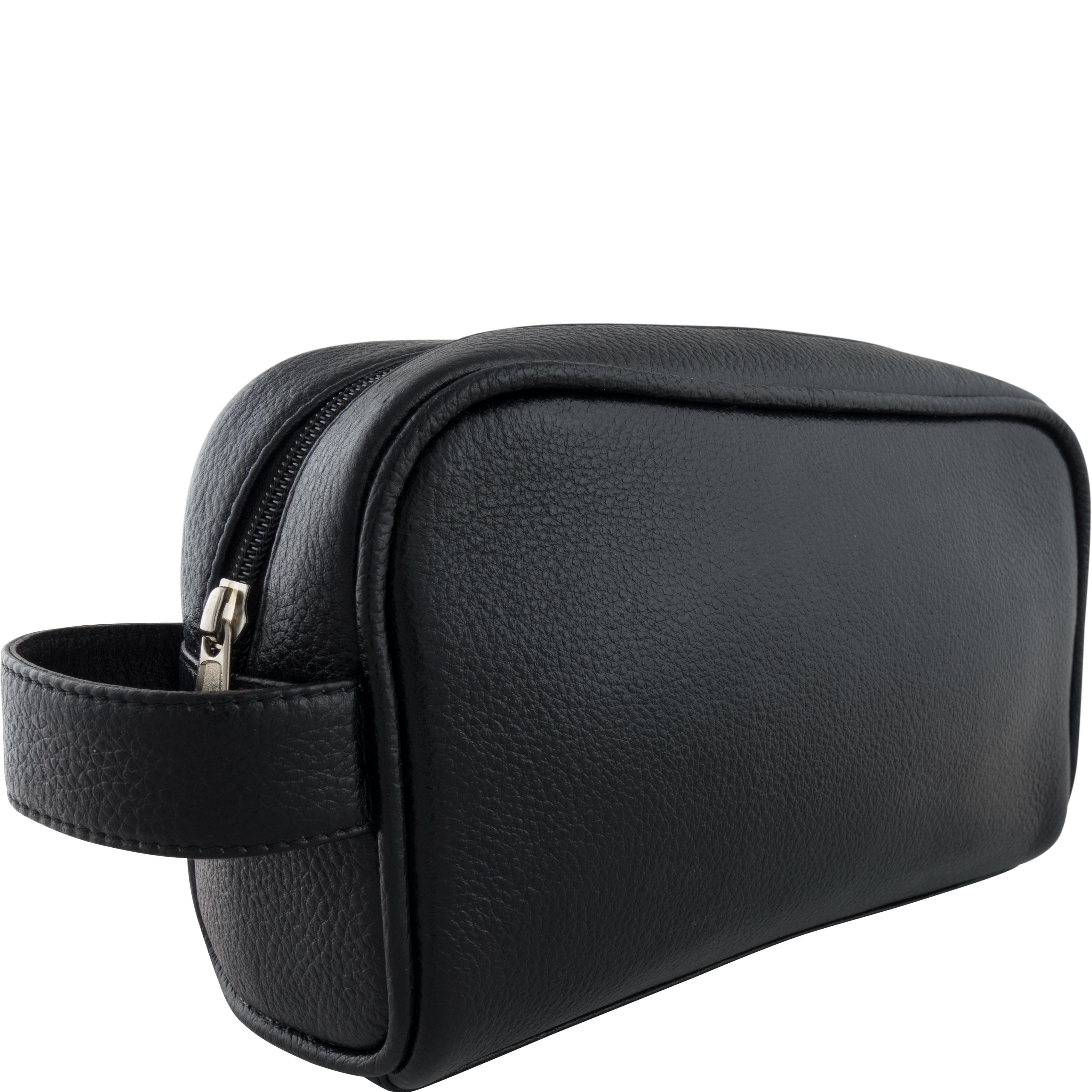 Luxe Toilettas in zwart leder