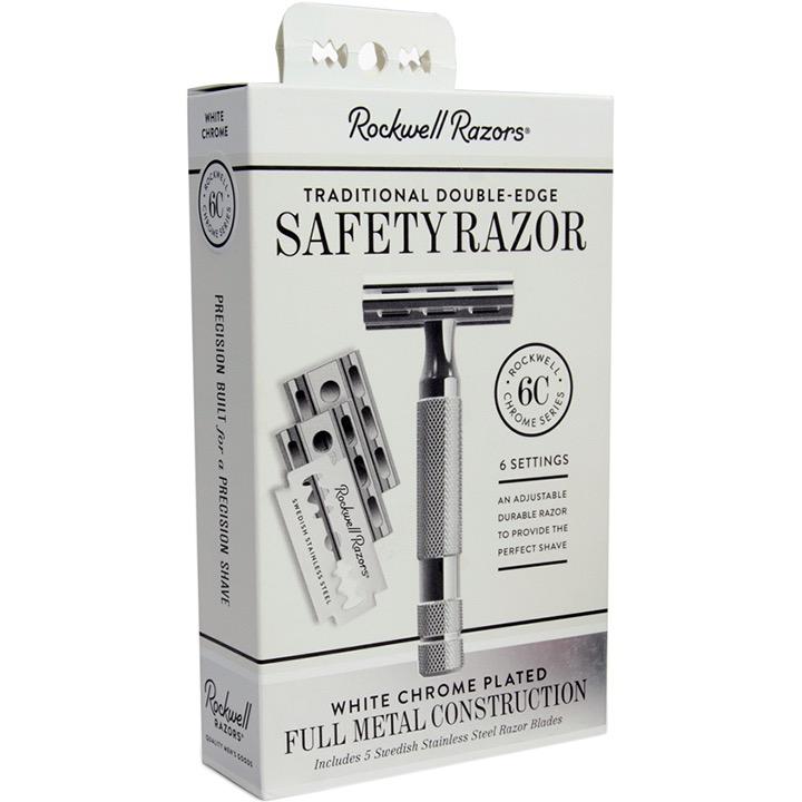 Safety Razor 6C - white chrome