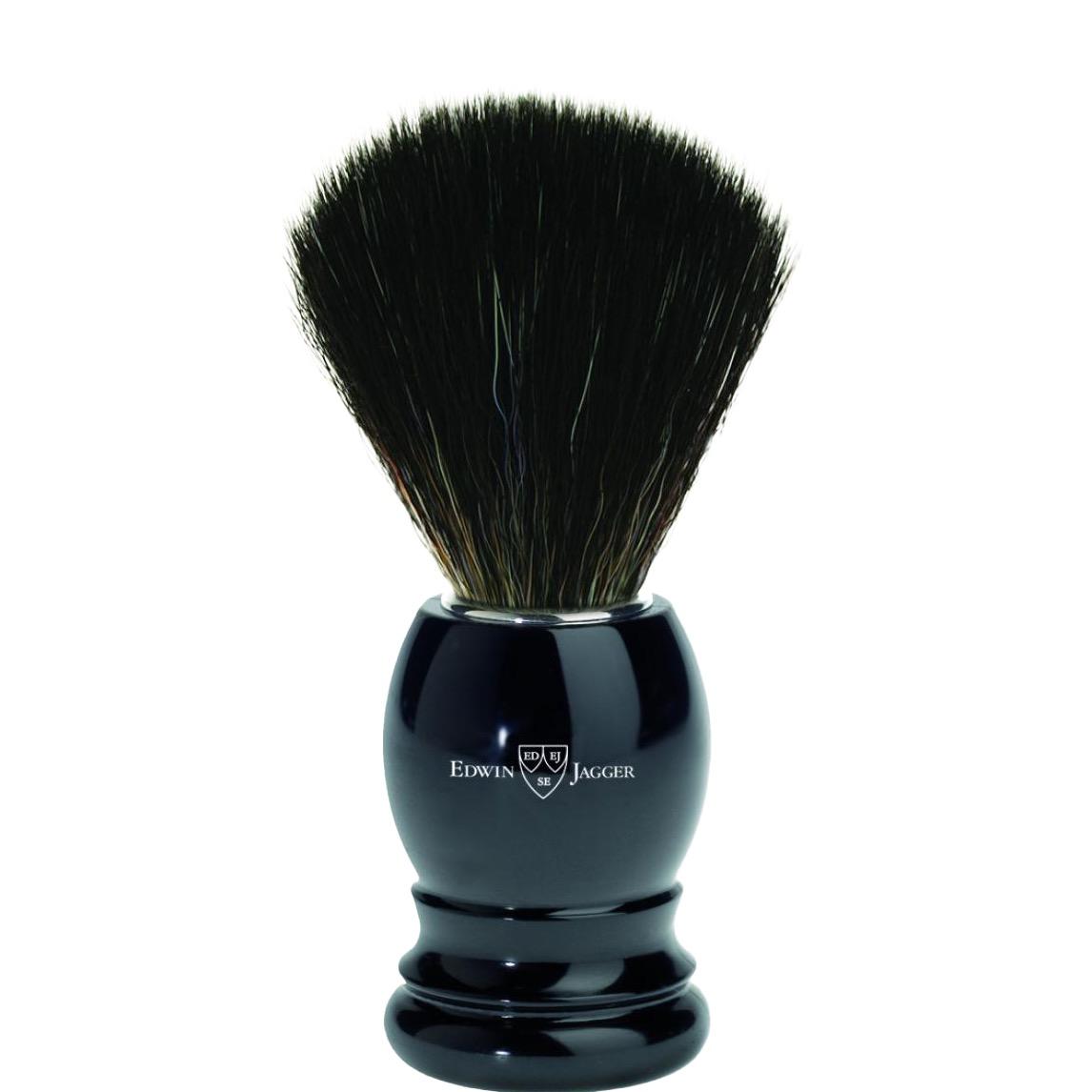 Scheerkwast Basic - Black Fibre - zwart
