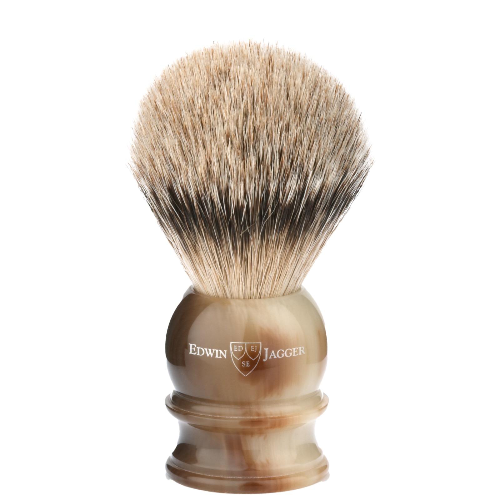 Scheerkwast Silvertip - hoornbruin