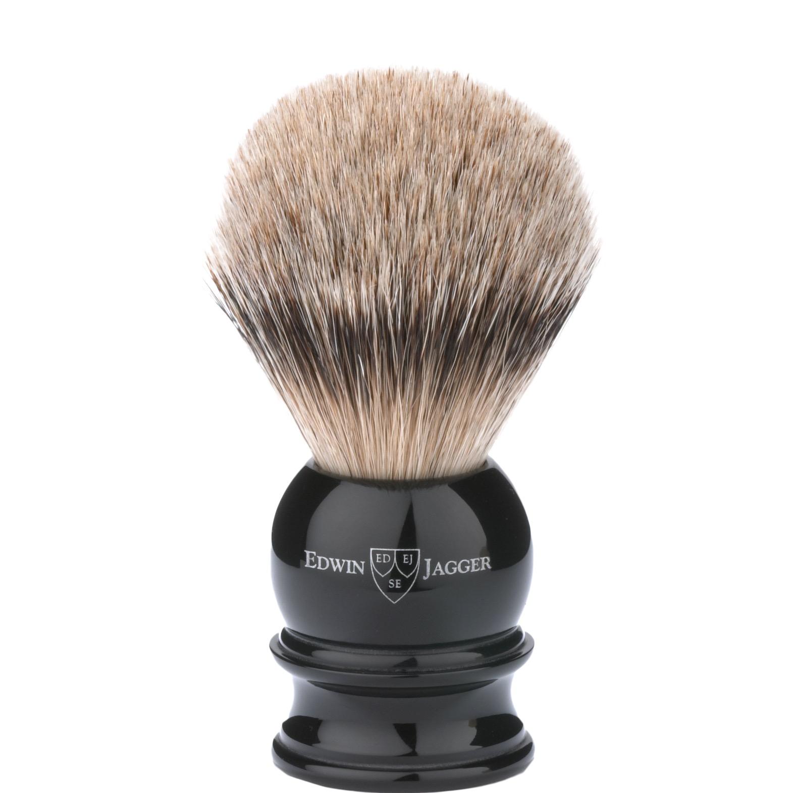 Scheerkwast Silvertip - zwart