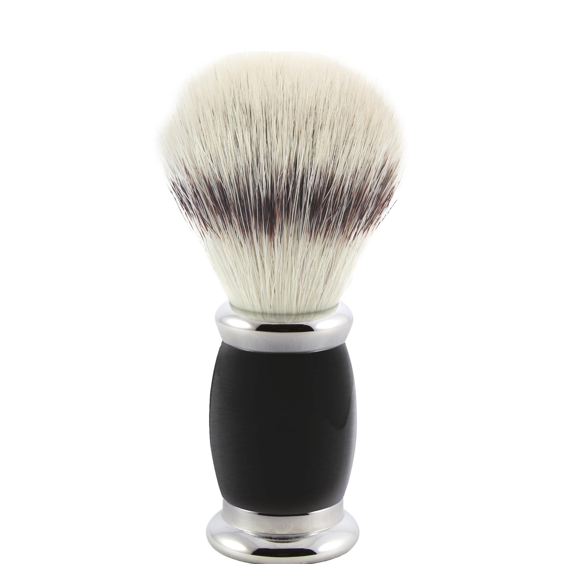 Scheerkwast Bulbous - Silvertip Fibre - zwart