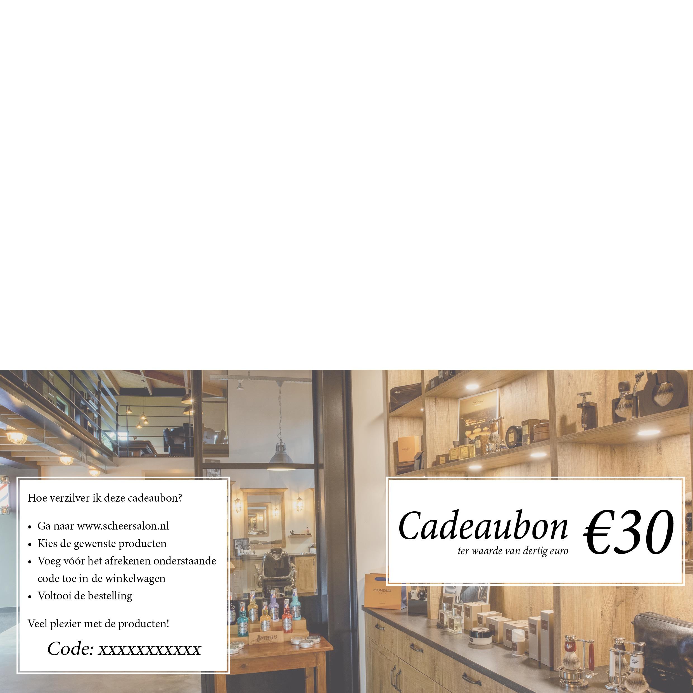 Cadeaubon t.w.v. 30 euro