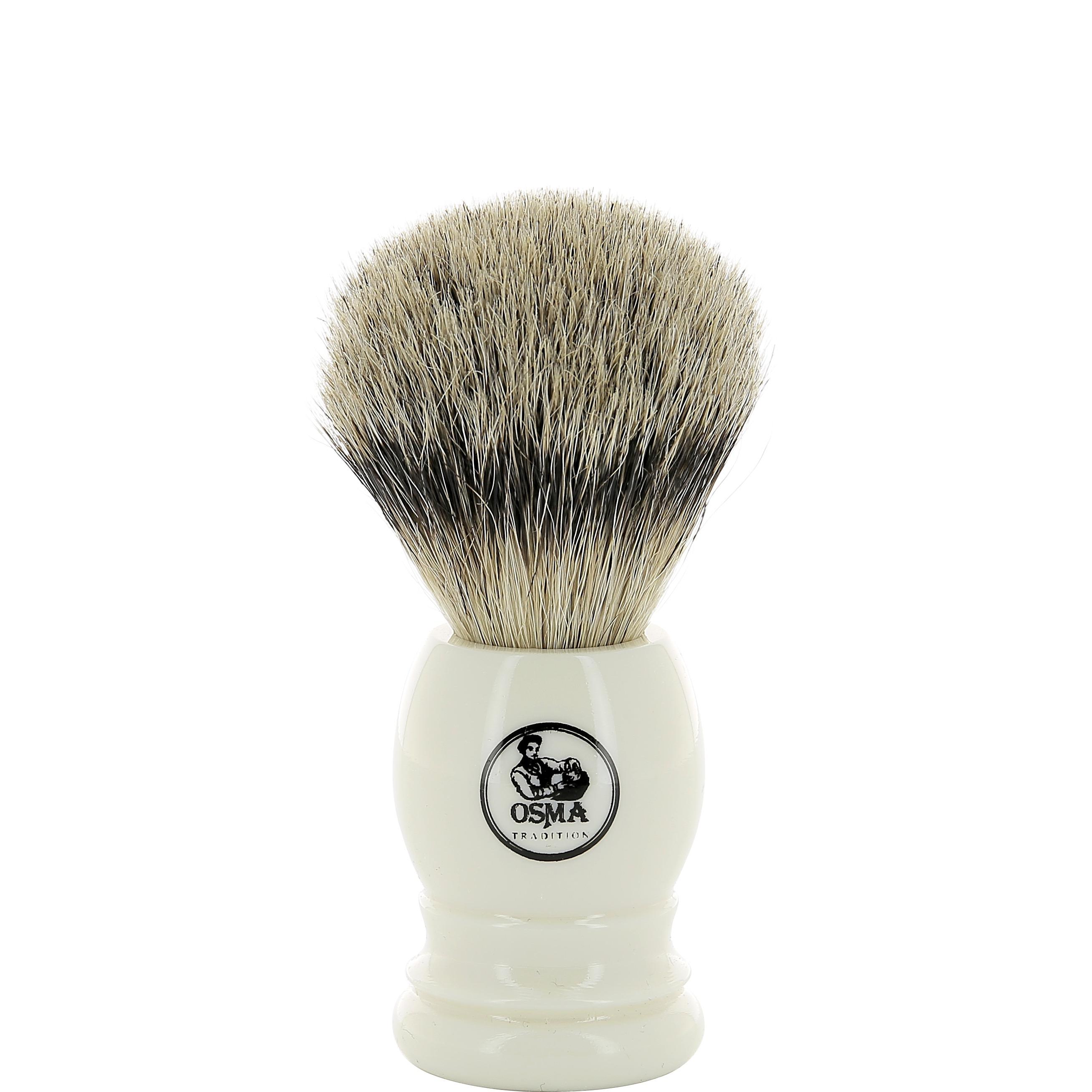 Scheerkwast Silvertip dashaar - ivoor