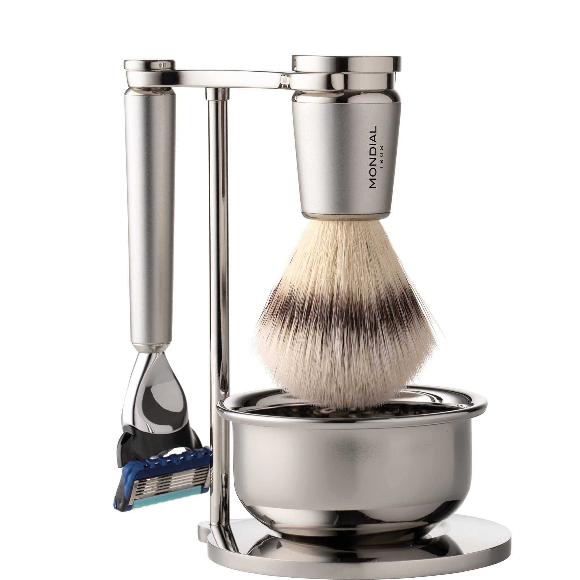 Scheerset & Bowl Run Fusion - Silvertip Fibre -  satin chroom