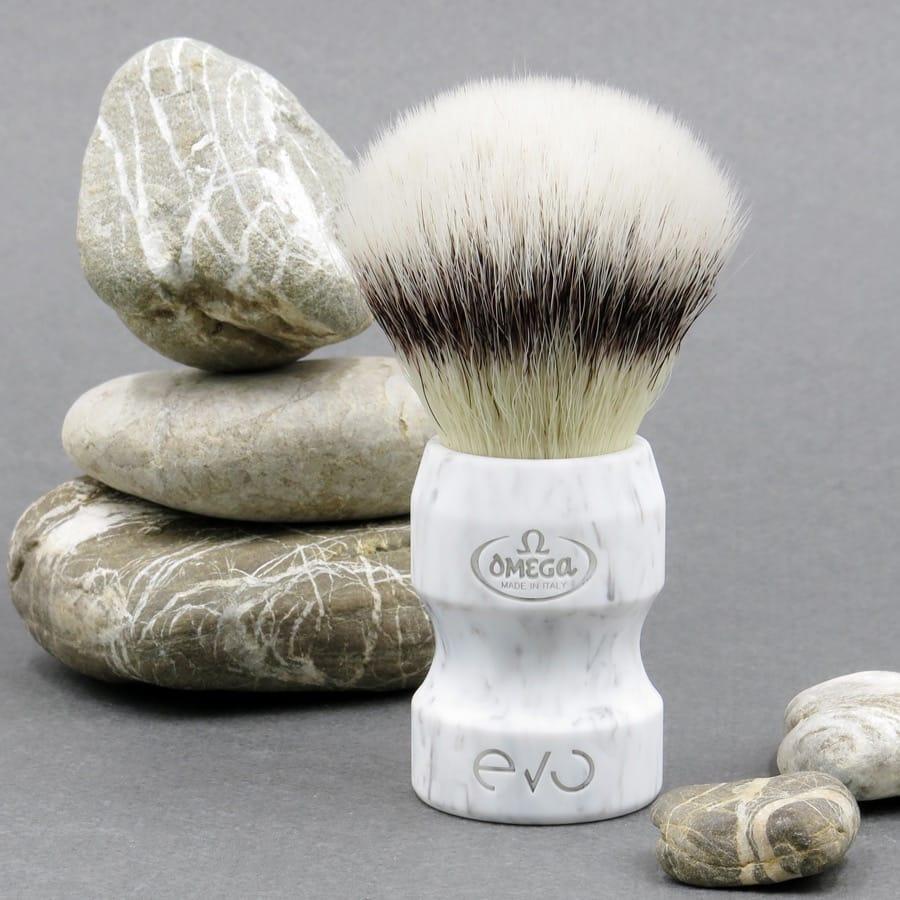 Scheerkwast EVO Duca Silvertip fibre - Marble