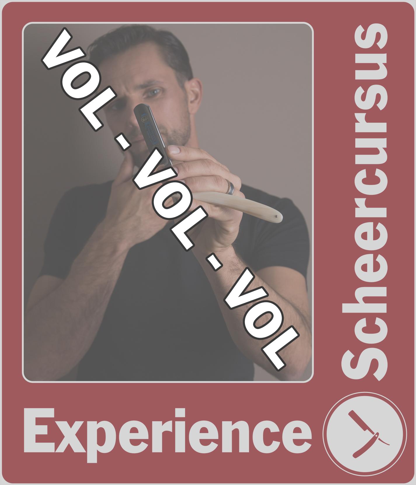 Scheercursus Experience Zaterdag 16 oktober